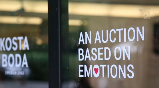 An auction based on emotions #Kosta Boda